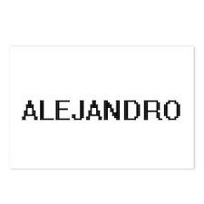 Alejandro Digital Name De Postcards (Package of 8)