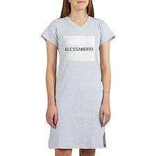 Alessandro Digital Name Design Women's Nightshirt