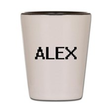 Alex Digital Name Design Shot Glass