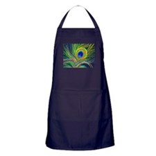 PAINTED PEACOCK FEATHER DB Apron (dark)