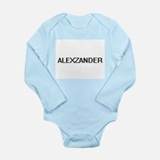 Alexzander Digital Name Design Body Suit
