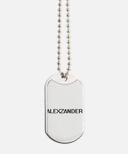 Alexzander Digital Name Design Dog Tags