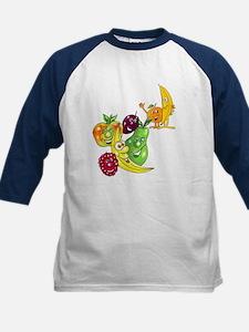 Healthy Happy Fruit Kids Baseball Jersey