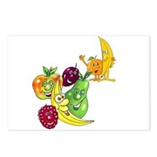 Healthy Happy Fruit Postcards (Package of 8)
