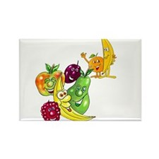 Healthy Happy Fruit Rectangle Magnet (10 pack)