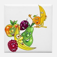 Healthy Happy Fruit Tile Coaster