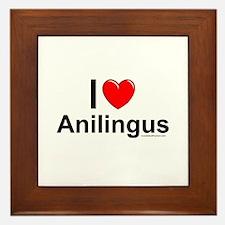 Anilingus Framed Tile