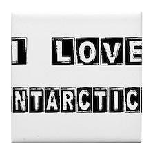I Block love Antarctica Tile Coaster