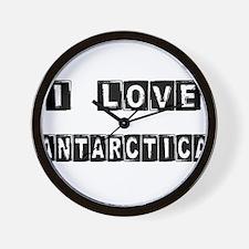 I Block love Antarctica Wall Clock