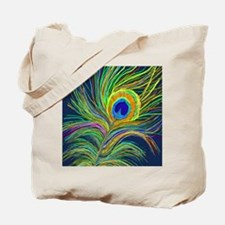 PAINTED PEACOCK FEATHER S Tote Bag