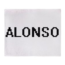 Alonso Digital Name Design Throw Blanket
