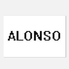 Alonso Digital Name Desig Postcards (Package of 8)