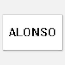 Alonso Digital Name Design Decal