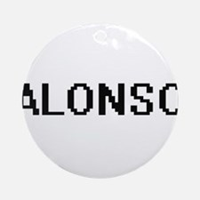 Alonso Digital Name Design Ornament (Round)