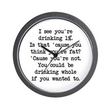 Drinking 1% (blk) - Napoleon Wall Clock