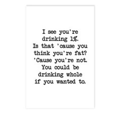 Drinking 1% (blk) - Napoleon Postcards (Package of