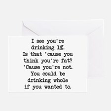 Drinking 1% (blk) - Napoleon Greeting Cards (Pk of