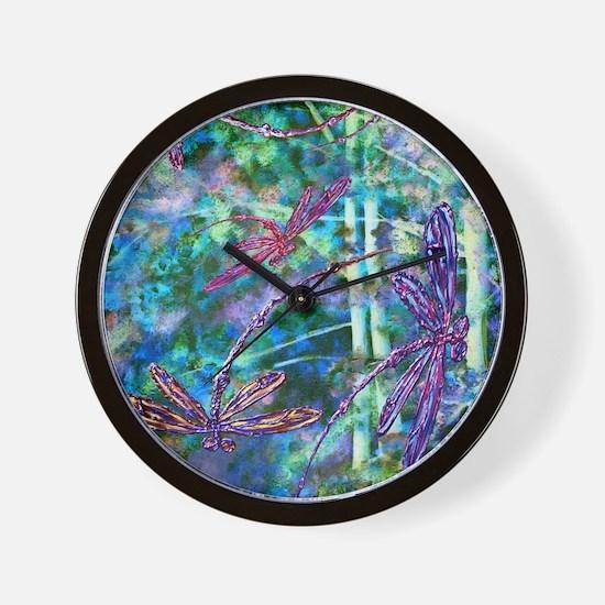 Dragonflies Forest Light Wall Clock