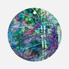 Dragonflies Forest Light Ornament (Round)