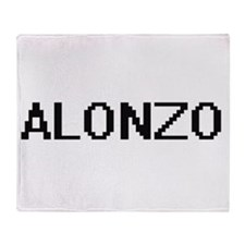 Alonzo Digital Name Design Throw Blanket