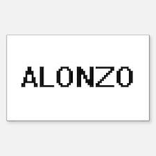Alonzo Digital Name Design Decal