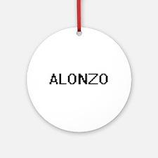 Alonzo Digital Name Design Ornament (Round)
