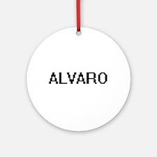 Alvaro Digital Name Design Ornament (Round)