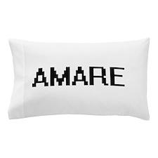 Amare Digital Name Design Pillow Case