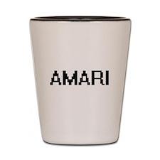 Amari Digital Name Design Shot Glass