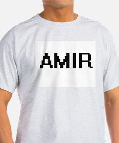 Amir Digital Name Design T-Shirt