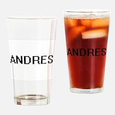 Andres Digital Name Design Drinking Glass