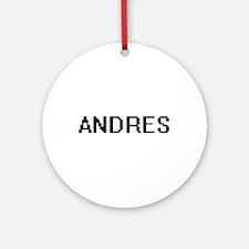 Andres Digital Name Design Ornament (Round)