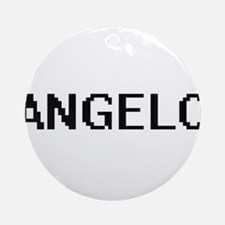 Angelo Digital Name Design Ornament (Round)