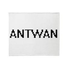 Antwan Digital Name Design Throw Blanket