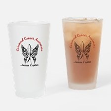 Carcinoid Cancer Butterfly 6.1 Drinking Glass
