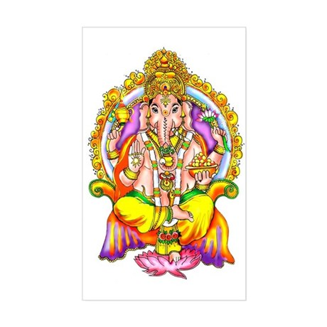 Ganesh Rectangle Sticker
