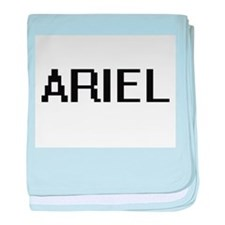 Ariel Digital Name Design baby blanket