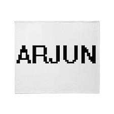 Arjun Digital Name Design Throw Blanket