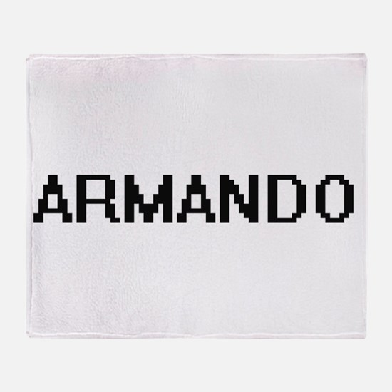 Armando Digital Name Design Throw Blanket