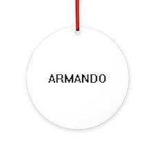 Armando Digital Name Design Ornament (Round)