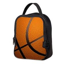 Basketball Big Wide Neoprene Lunch Bag