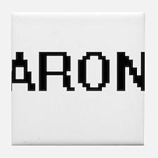 Aron Digital Name Design Tile Coaster
