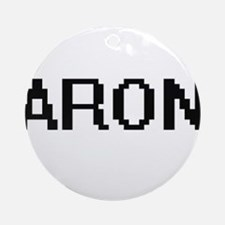 Aron Digital Name Design Ornament (Round)
