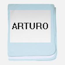 Arturo Digital Name Design baby blanket