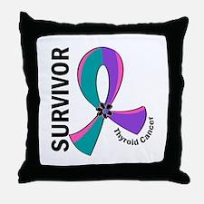 Thyroid Cancer Survivor 12 Throw Pillow