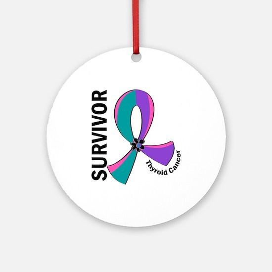 Thyroid Cancer Survivor 12 Ornament (Round)