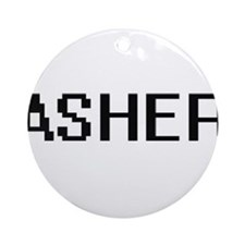 Asher Digital Name Design Ornament (Round)