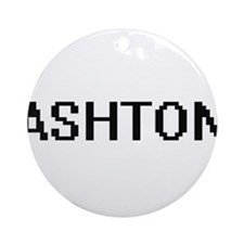 Ashton Digital Name Design Ornament (Round)