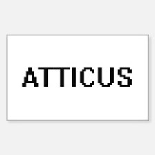 Atticus Digital Name Design Decal