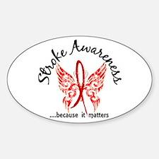 Stroke Butterfly 6.1 Sticker (Oval)